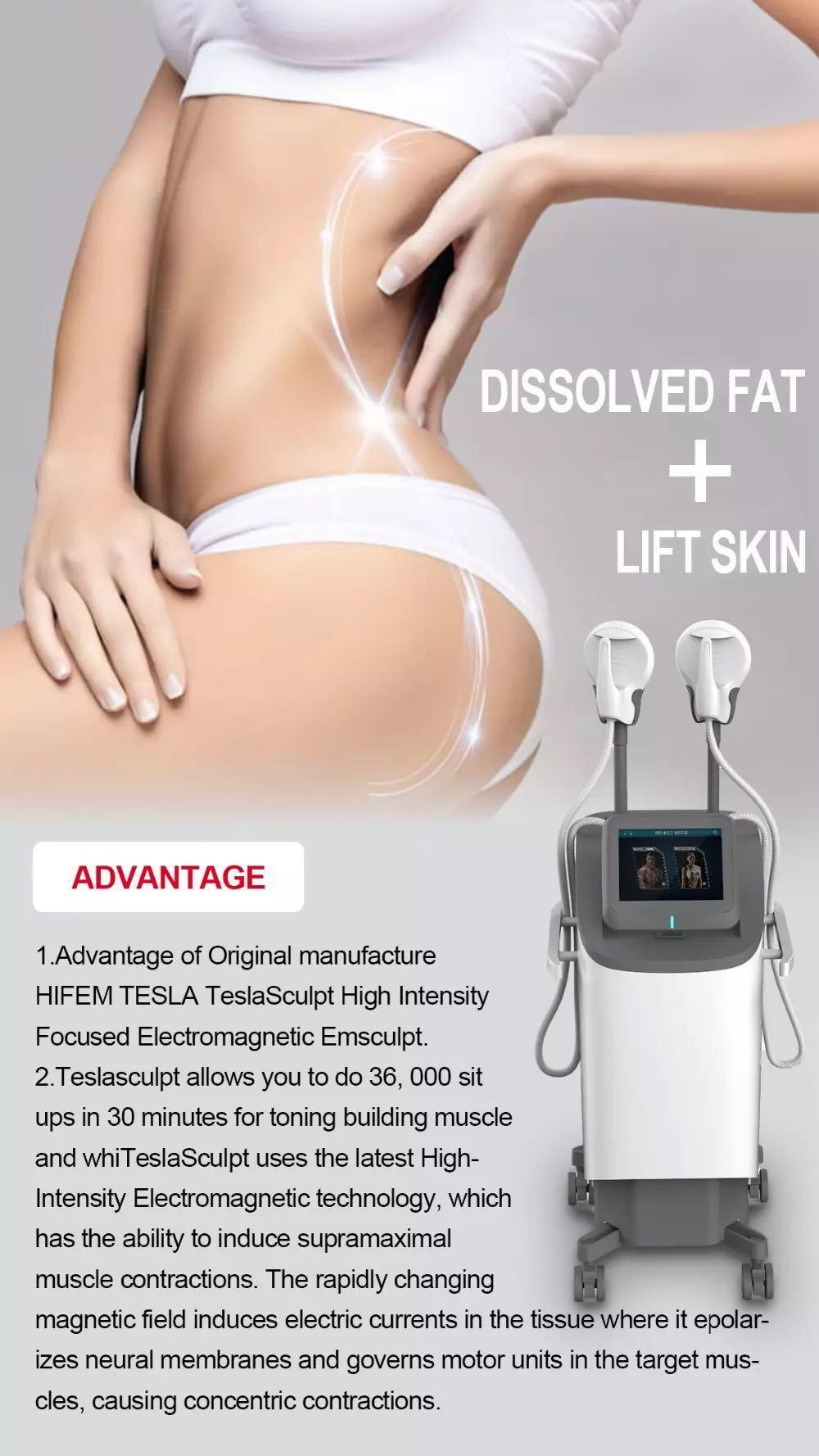 High-intensity Electromagnetic buttock lift abs stimulator fat removal machine ems tesla sculptor ems sculpt