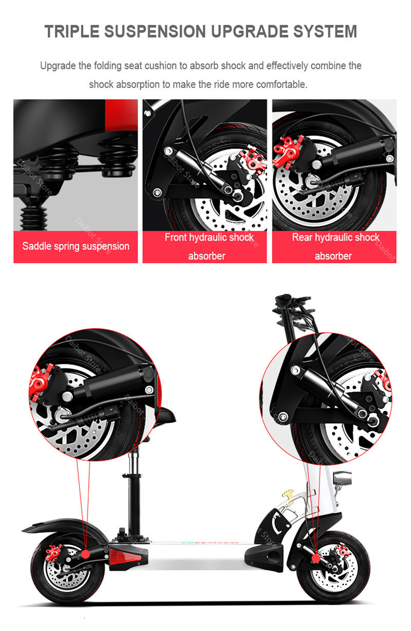 Powerful Electric Scooter 2400W 60V Two Wheel Electric Scooters Dual Drive High Speed 70KMH Foldable Kick Scooter Adult (24)