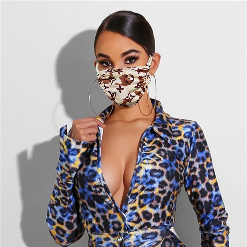 Women Face Mask Fashion letter Print Masks Anti-dust Sun-resistant Mouth-muffle Washable Breathable Face Mask Outdoor Protective Masks Best