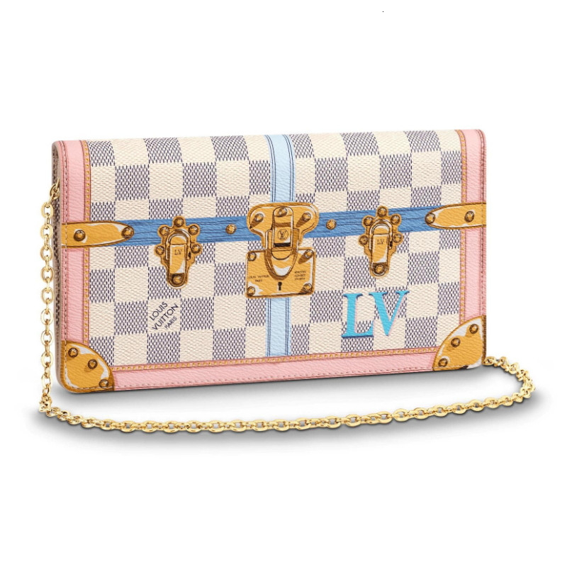 /  show models new limited edition POCHETTEWEEKEND Baige ladies Messenger bag N60108
