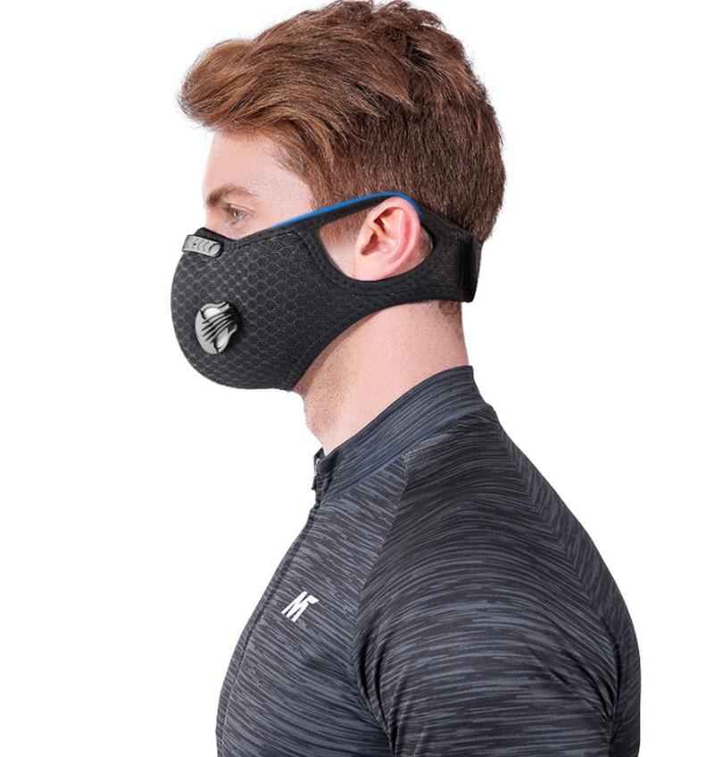 DHL New Sport Face Mask With Filter Activated Carbon PM 2.5 Anti-Pollution Running Training MTB Road Bike Cycling Mask