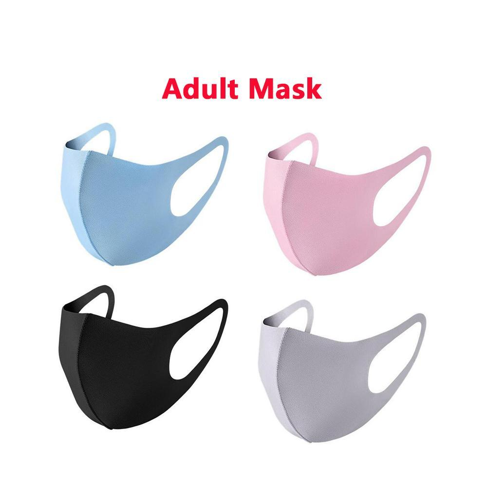Designer Mask Custom Mask Personalized Mouth Face Mask Black Ice Silk Cotton Breathable Dustproof Reusable Masks For Adult xhlight Wh