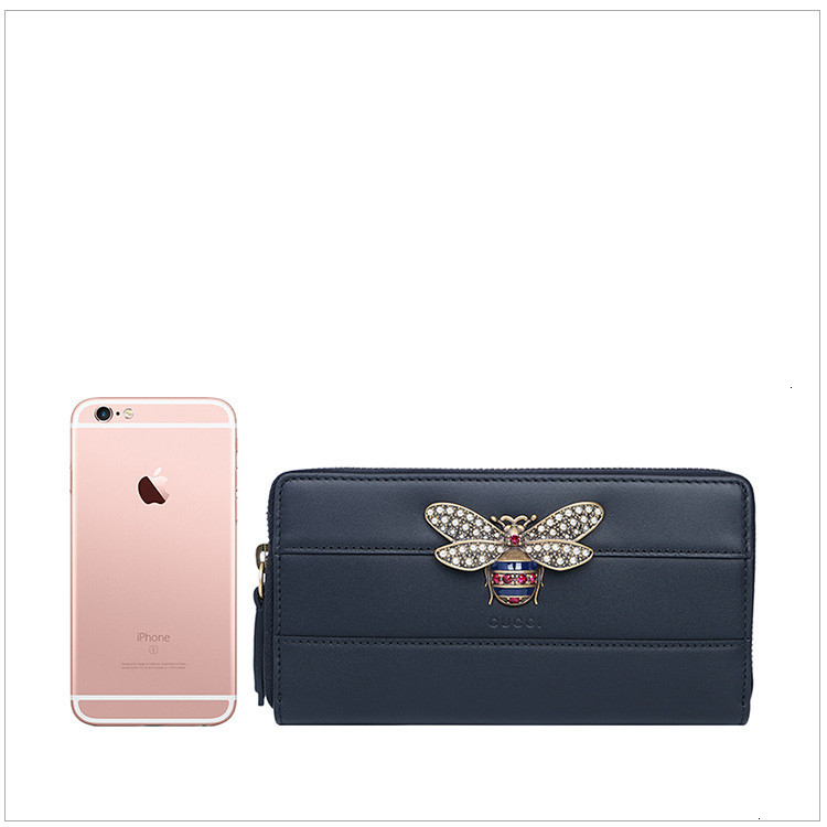/  Queen Margaret series ladies leather diamonds bee decorative fashion wallet purse