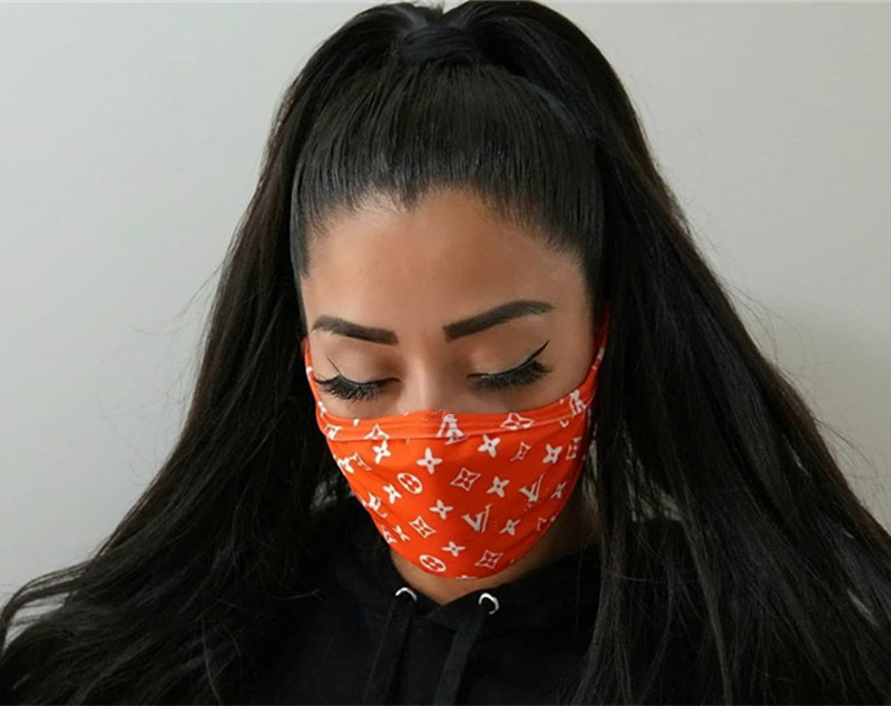 Unisex Face Mask Anti-dust Ultraviolet-proof Masks Men Women Mouth-muffle Trendy Print Washable Summer Sport Protective Face Mask Gifts