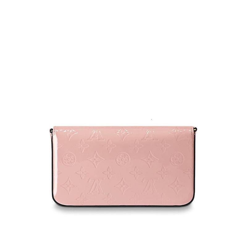 / POCHETTEFELICIE Ballet Pink Chain Detachable 3-in-1 Hand, Strap, One-Shoulder Women's Handbag M64358