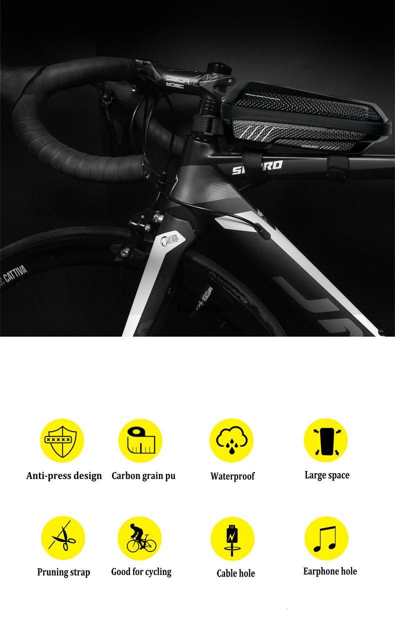 WILD MAN Bicycle Bag Triangle Frame Pannier MTB Road Cycling Top Tube Bag EVA Shell Waterproof for Repair Tools bolsa bicicleta (4)