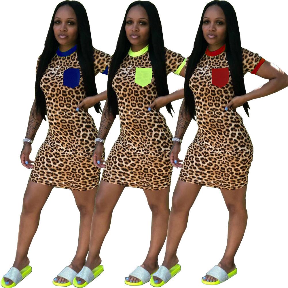 2020 neue kleidung günstige china großhandel europäischen und  amerikanischen frauen-overall-spielanzug sexy leopard-dünne kleid