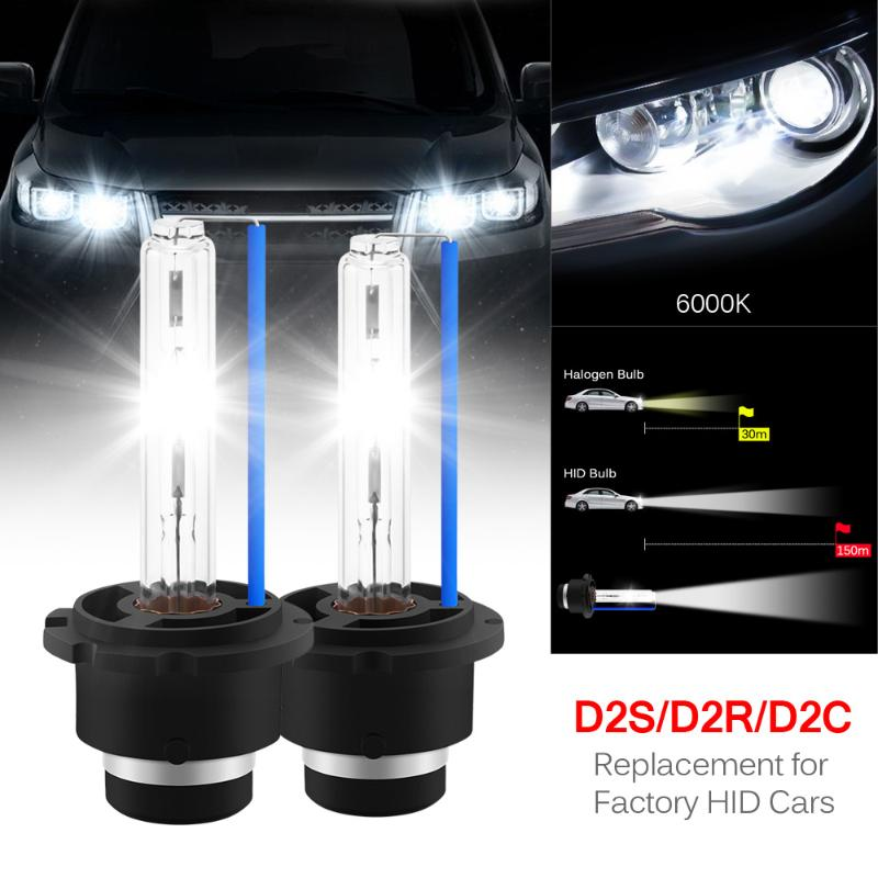 LANDE D2S HID Bulbs 35W 4300K All Weather Xenon HID Headlight Bulb Replacement 2 Year Warranty 2 PCS HID Bulb