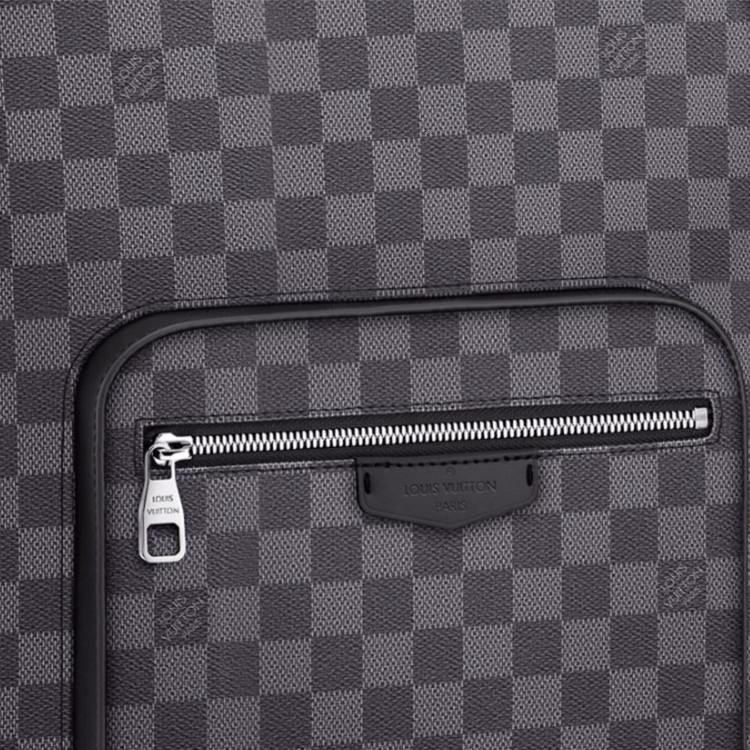/ Men's Black Grey Checkerboard Backpack N41473 Black
