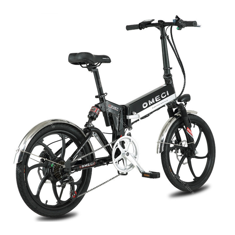 20 Inch Folding Electric Bicycle 2 Wheels Electric Bicycles Spoke Wheel Mini Lightweight Electric Bikes Adults 350W 48V 35KMH (3)