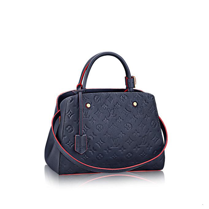 /  full leather Montaigne medium ladies shoulder bag, portable M42746