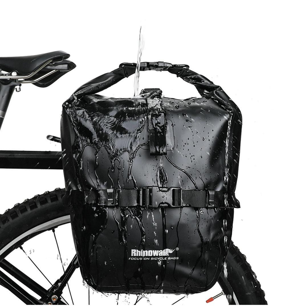 20L Waterproof Bike Rear Rack Seat Trunk Saddle Storage Pannier Bag Travel Bag
