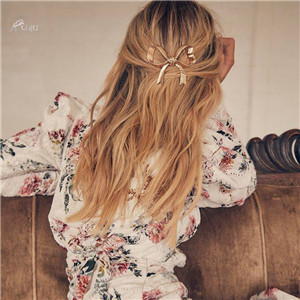 AOMU-2019-New-Vintage-Gold-Color-Bowknot-Hair-Combs-For-Women-Lady-s-Sweet-Bow-Hair