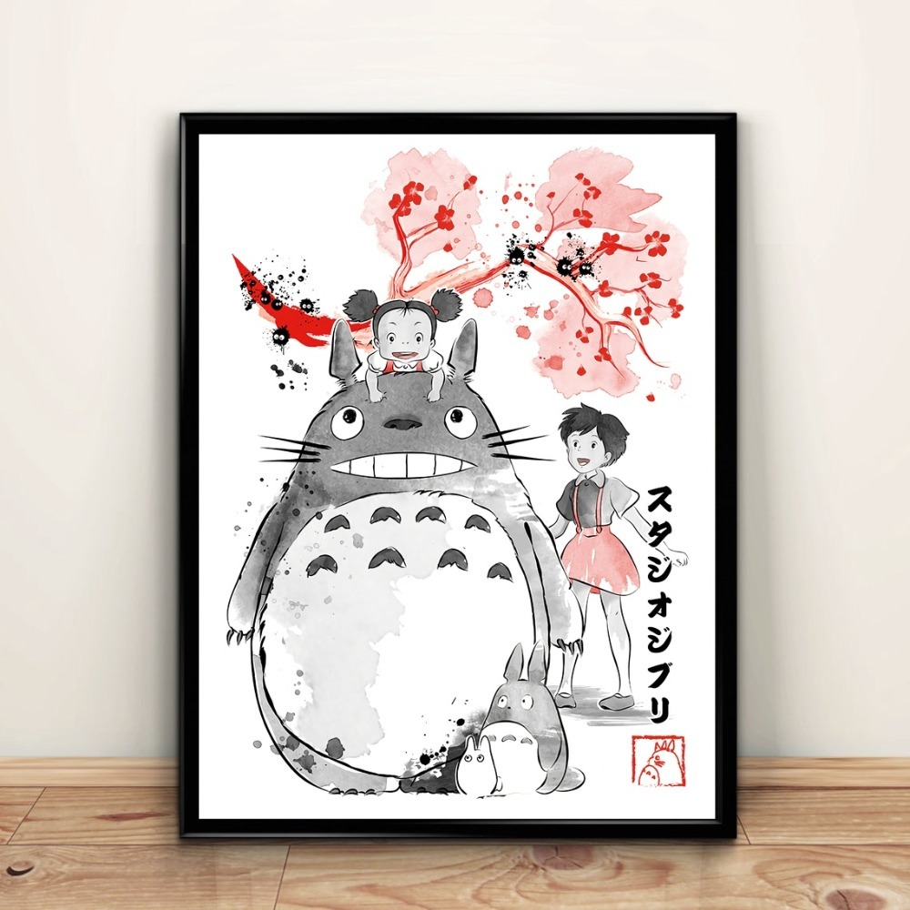 Studio-Ghibli-my-neighbour-totoro-Anime-poster-Canvas-poster-Wall-Art-no-frame