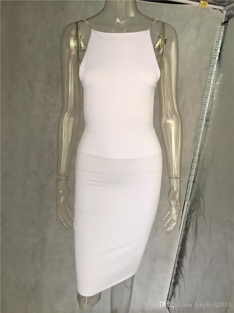 Women`s Sexy Club Dresses Black White Backless Night Club Party Dress Back Open Strap Bodycon Dress Wrap Bandage Dress For Women