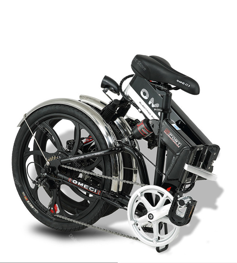 20 Inch Folding Electric Bicycle 2 Wheels Electric Bicycles Spoke Wheel Mini Lightweight Electric Bikes Adults 350W 48V 35KMH (2)