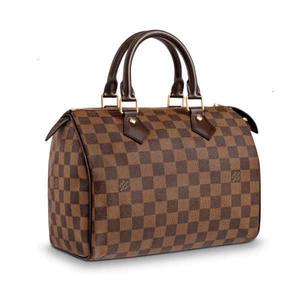 /  Speedy25 old color checkerboard handbag canvas / with leather strapless M41109