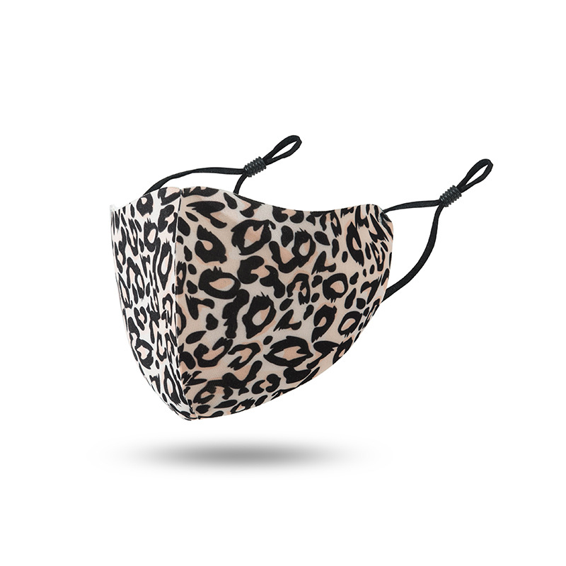 Leopard Print Face Mask Breathable Foldable Mouth Masks Reusable Sunscreen Masks Housekeeping Dustproof Face Masks value price