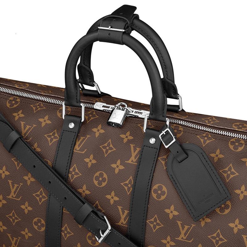 /   men's bag KEEPALL 45 neutral old flower portable travel bag M56711