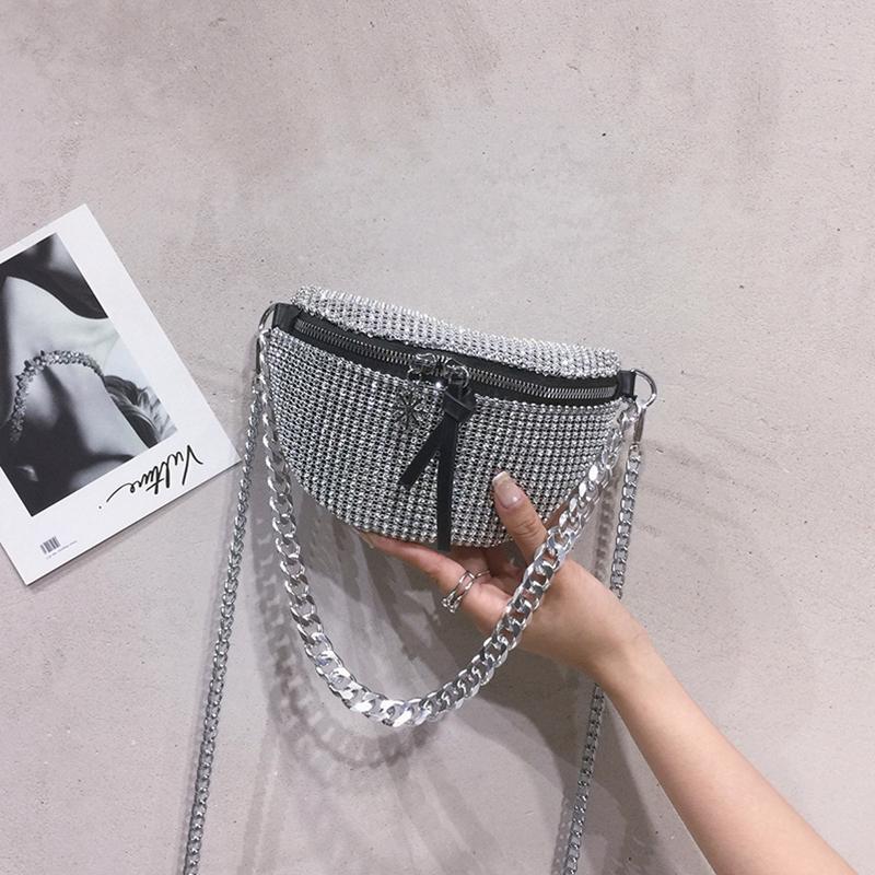 designer tote bag fashion solid color rhinestone ladies designer handbags allmatch fashion chest packages mini backpack free