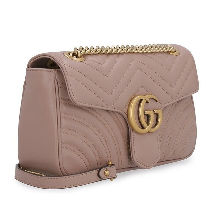 /  19 autumn and winter classic wild female bag female  GG marmont pink crossbody bag 443497DTDIT_5729
