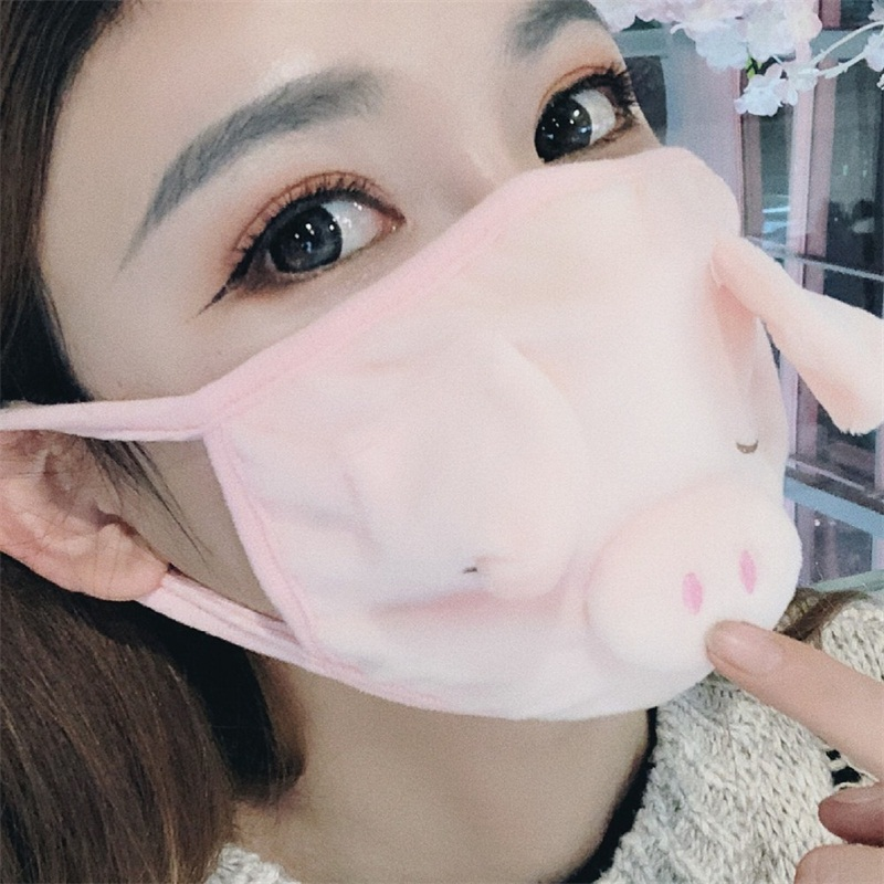 Adults Cotton Cloth Mouth Respirator Cat Protection Reusable Mascarilla Recycling Earloop Fashion Face Mask Student Dustproof Warm 3 65hp B2