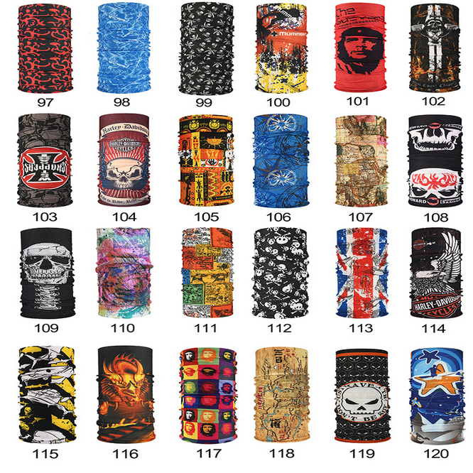 Hot Outdoor Masks Multi Function Head Scarf Seamlessly Headband Scarf Bandanas Cycling Masks Skeleton Magic Scarf Party Masks Hot Outdoor Gq