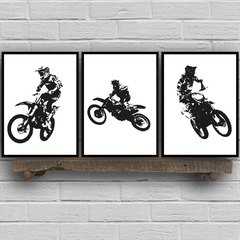 Motocross Rider Prints Home Decoration