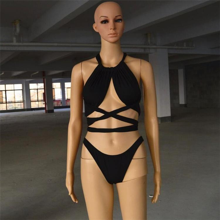 2017 New Sexy Bikinis Women Swimsuit High Waisted Bathing Suits Swim Halter Push Up Bikini Set Plus Size Swimwear