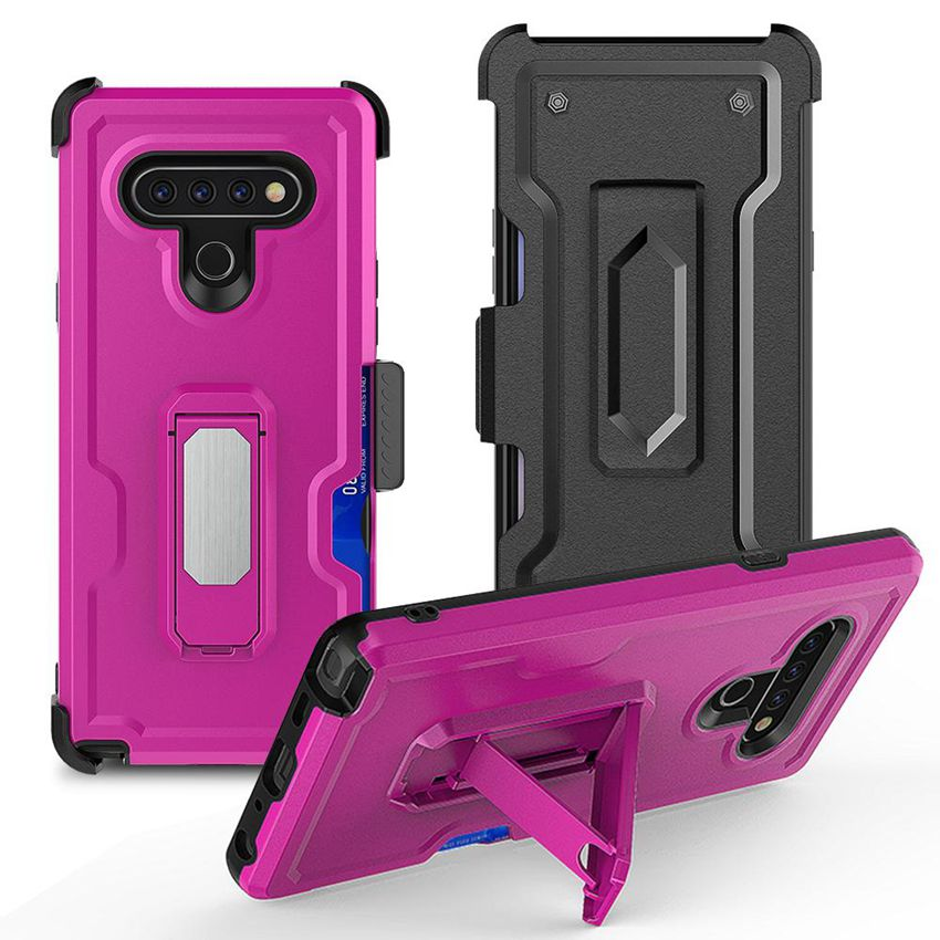 For MOTO G8 Plus G7 Play E6 E5 E7 G Stylus G Fast MOTO G Power E 2020 New Clip Cover Combo Holster & Defender Case with Kickstand Suction