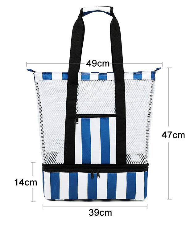 2PCS Yoga Mat Storage Bag Half Mesh Tote Bag Sling Bag for Adults Women Men