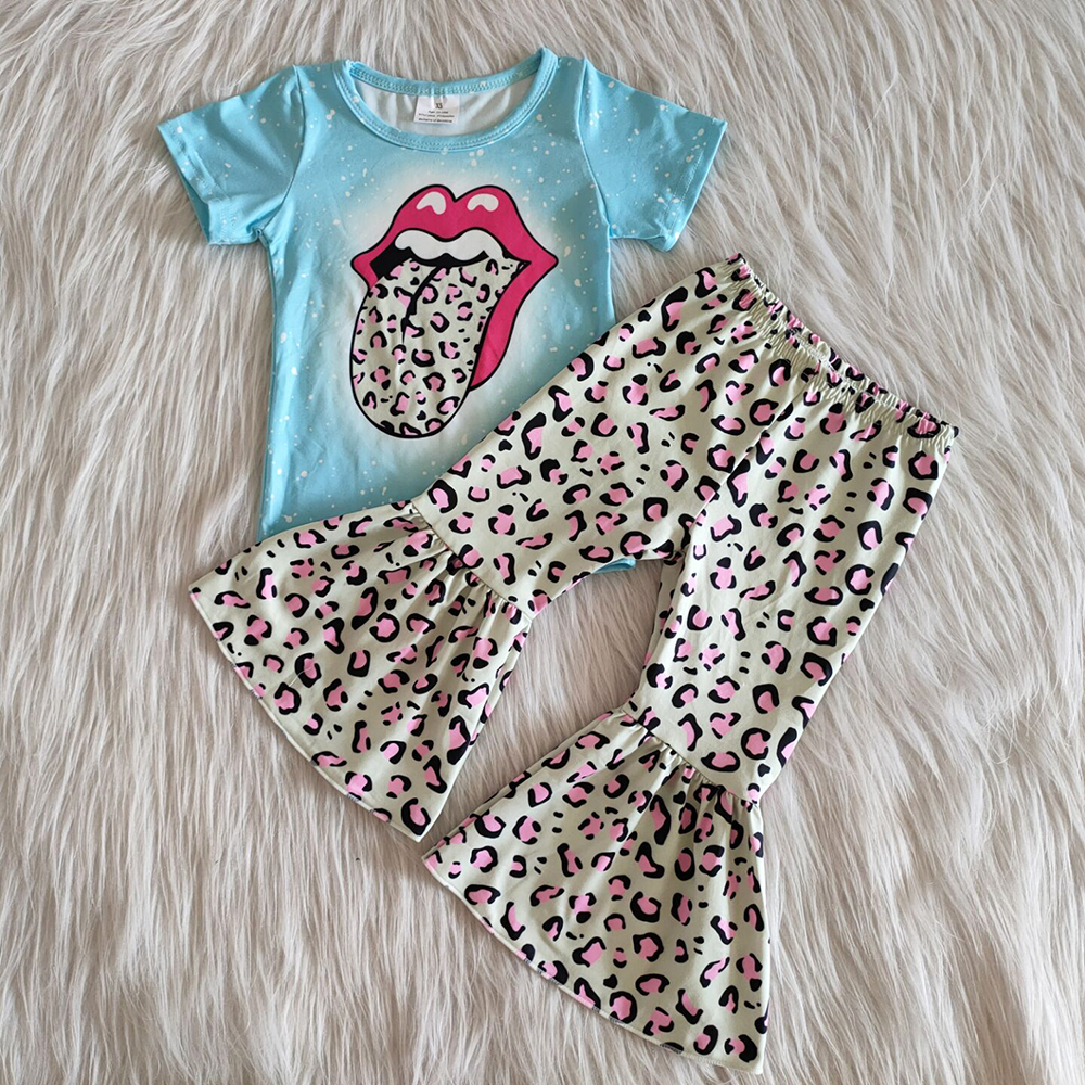 hot sale baby girl clothes bell bottom outfits kids clothes girls boutique outfits milk silk new design toddler girls designer clothes sets