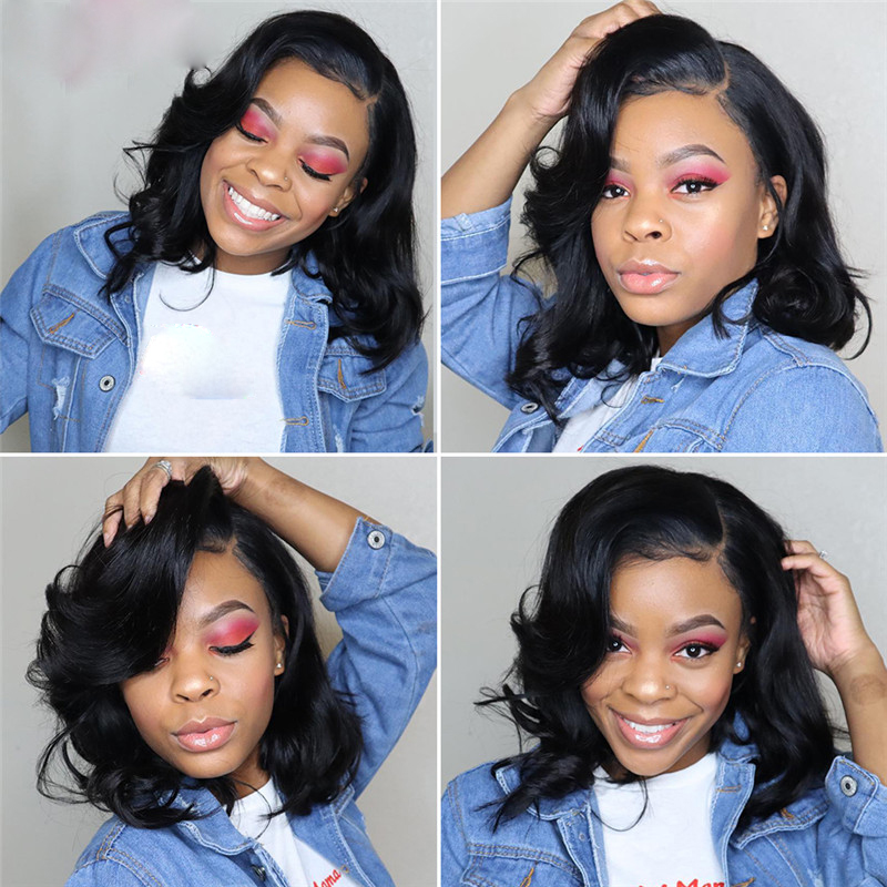 Body-Wave-Short-Bob-Wigs-Brazilian-Lace-Front-Human-Hair-Wigs-Pre-Plucked-Hairline-Natural-Wigs