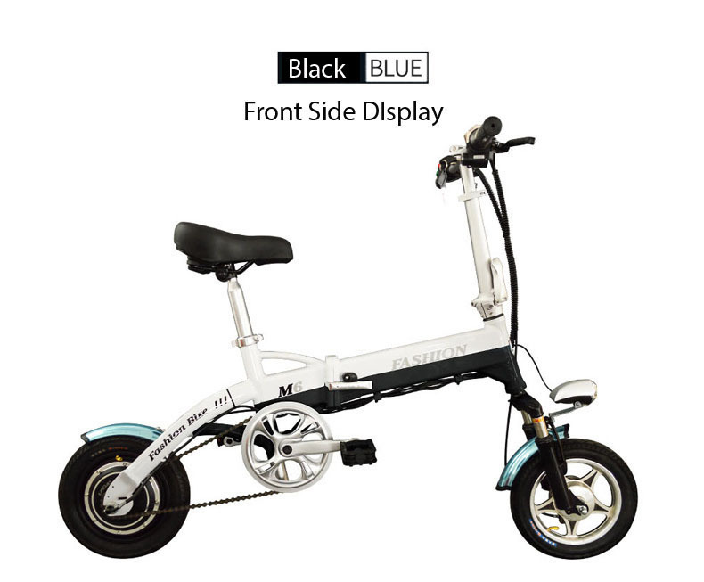 New Electric Bike 36V Two Wheels Electric Bicycle FrontRear Brake System WhiteBlueBlack Adult Folding Electric Scooter (12)