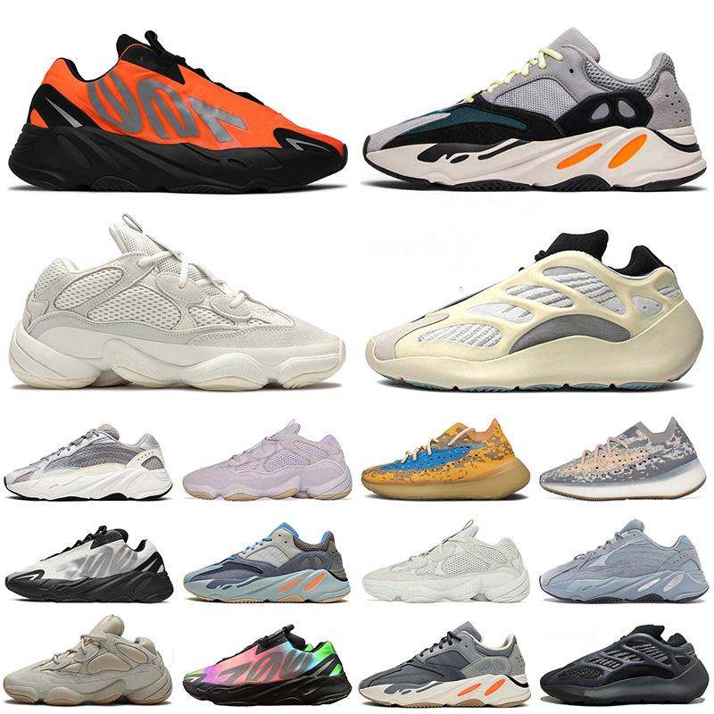 adidas yeezy boost yeezy 500 700 V3 700 mnvn 380 Nouvelle qualité chaussures de course Wave Runner os blanc pierre statique arc en ciel hommes femmes