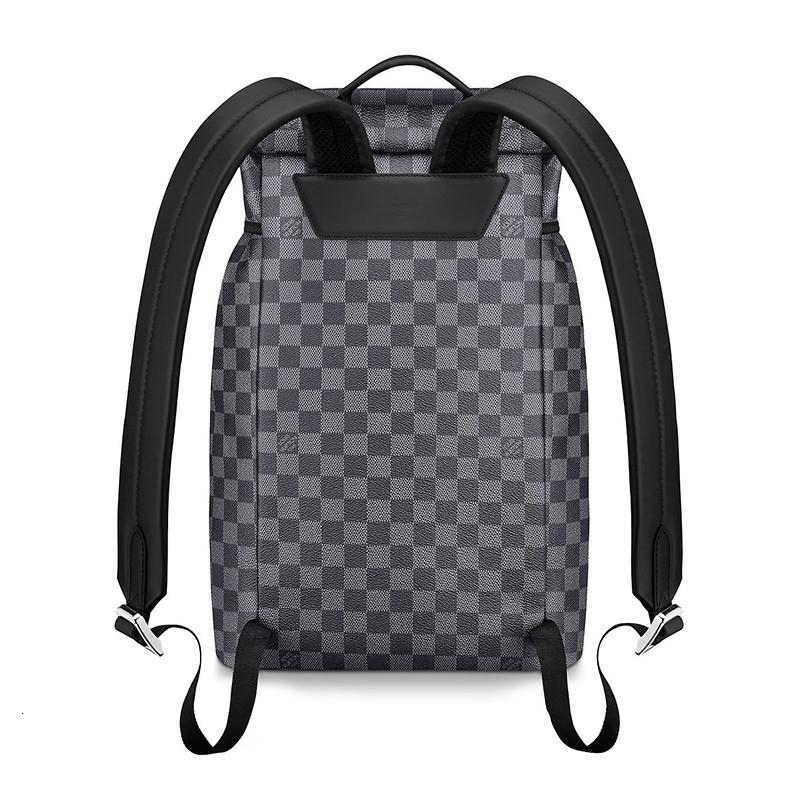 / ZACK Black Plaid Men's Backpack N40005