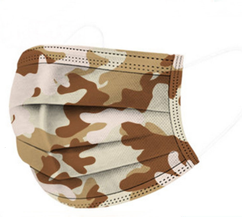 Free Ship! Wholesale Protective Nonwoven Face Mask Mascherine Camouflage Anti Dust/PM2.5 Breathable Mouth Designer Face Masks