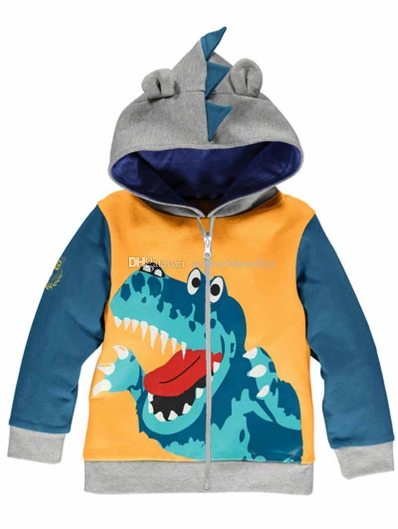 Baby Boy's Cute Animal Cartoon Hooded Jacket Clothing Children Devil Terry Cotton OutwearB001