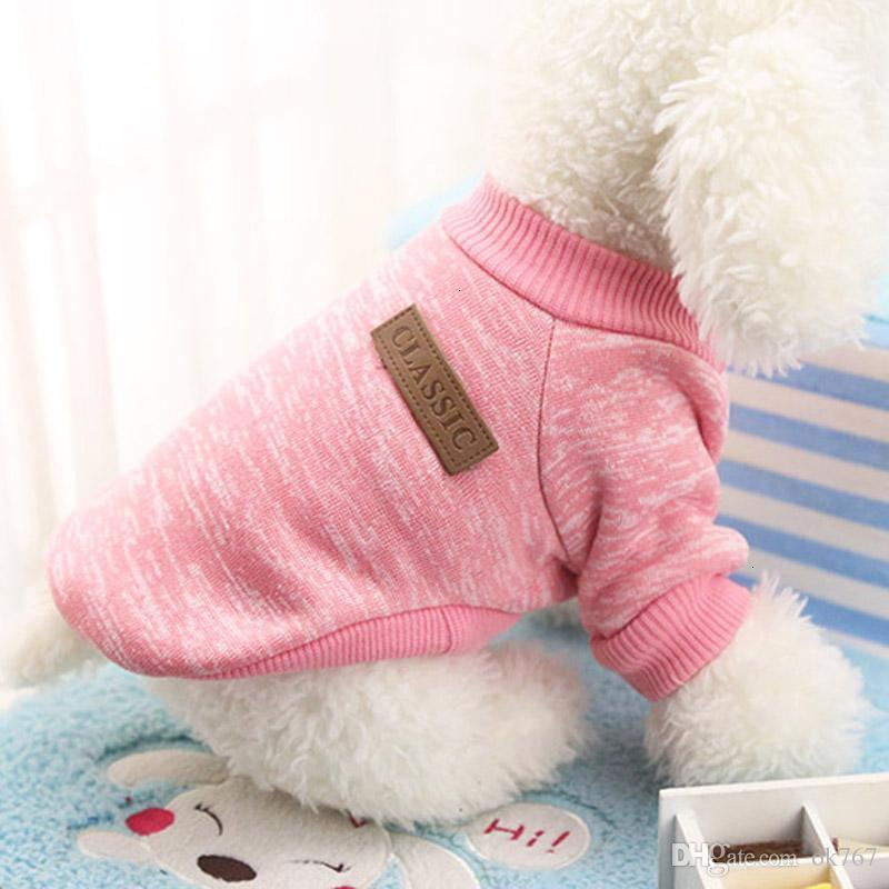 Classics Pet Dog Sweater Coat Clothes Autumn Warm Defensive Cold Cotton Puppy Cat Knitting Dogs Sweatershirt Apparel