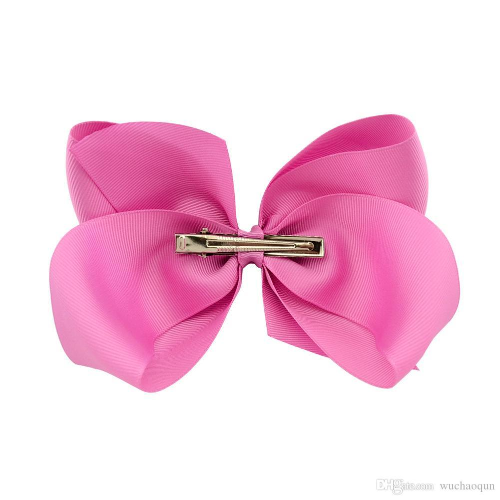 6 Inch Fashion Baby Ribbon Bow Hairpin Clips Girls Large Bowknot Barrette Kids Hair Boutique Bows Children Hair Accessories BY0194