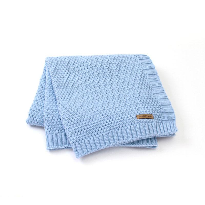 MOTOHOOD Kids Blanket Casual Baby Blankets Knitted Newborn Swaddle Wrap Soft Toddler Sofa Crib Quilt Baby Stroller Blanket (12)
