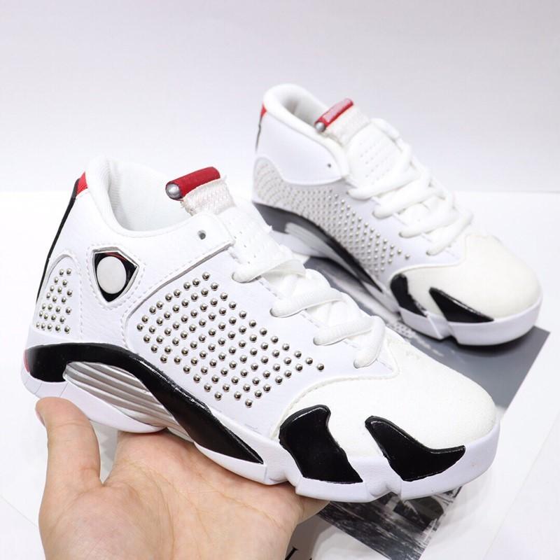 Infant XIV 14S kids basketball shoes White University Red sneakers Black Varsity Royal Chrome Children Boy Girl Trainers