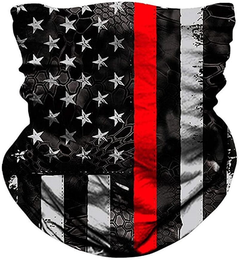 DHL American Flag 3D Printing Digital Magic Scarves Multifunctional Magic Headwear Turban Fashion Riding Collar Protective Mask