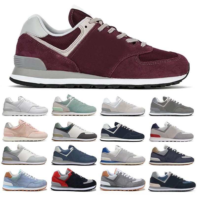 New balance 574 zapatillas para correr hombre mujer zapatillas vintage rosa  clásico gris azul marino negro beige hombre mujer zapatillas deportivas ...