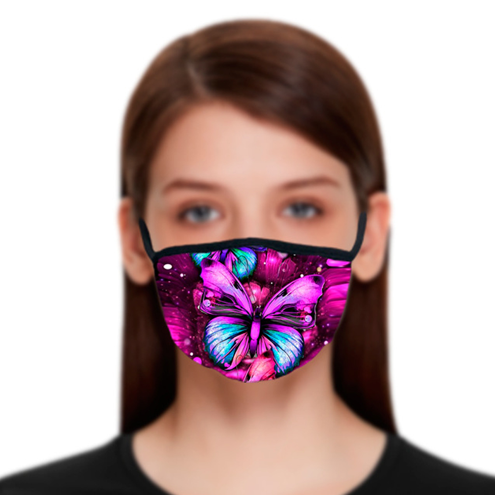 Butterfly pattern 3D printing Designer face mask with cotton reusable face masks OutDoor Sport Masks Fashion Designer Mask