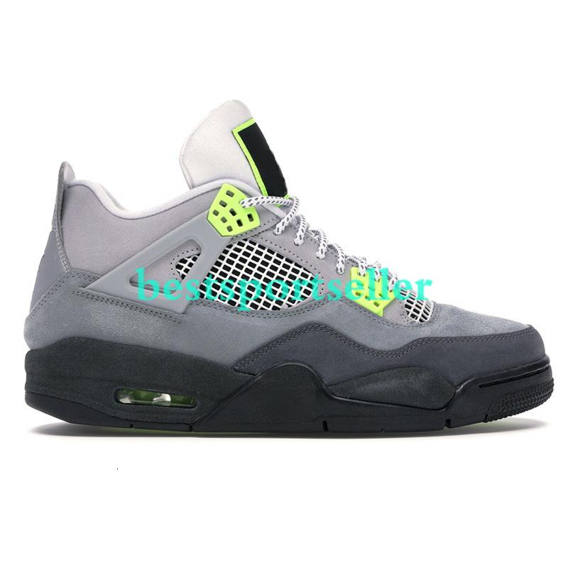 New 4 4s Jumpman Men Basketball Shoes sail Neon metallic purple rasta basketball Sneakers IV Black cat bred Cool Grey Loyal Blue Trainers