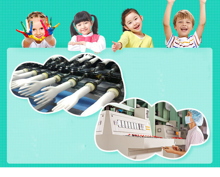 AMMEX KNG 20pcs Disposable Nitrile Gloves For Children Kids Multipurpose Work Glove Protective Non-Slip Painting Clean (1)