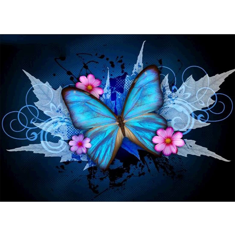 30x40cm ,Azul MWOOT 5D MariposaDiamante Pintura por N/úmero Kit,DIY Butterfly Diamond Painting Rhinestone Bordado de Punto de Cruz Artes Manualidades Lienzo Pared Decoraci/ón