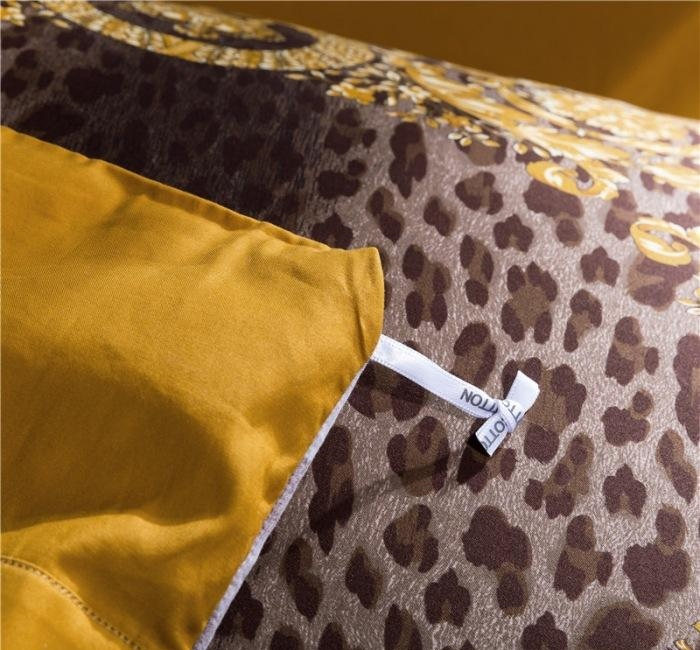 100s Cotton Design Brand Luxury Leopard Print Bedding sets king size Quilt cover pillow case King queen size duvet cover Sets