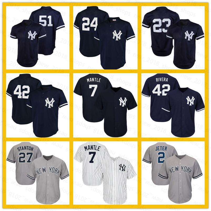 BUY-TO Jerseys de los Hombres Camiseta de b/éisbol Camisetas Yankees # 24 Sanchez Nueva York
